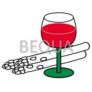 Glas Rotwein und Spargel.png